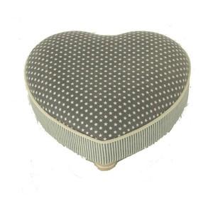 Pouf poggiapiedi a forma di cuore tessuto