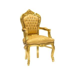 Poltrona barocco con braccioli oro/oro