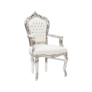 Poltrona barocco argento e bianca