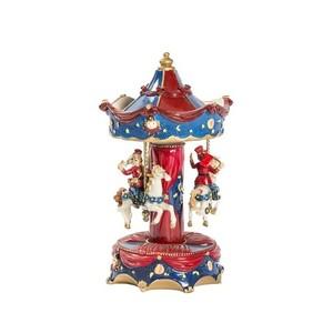 Carillon giostra musicale natalizia rossa e blu