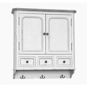Mobile pensile bianco Shabby Chic
