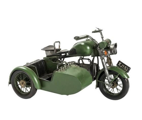Modellino sidecar verde