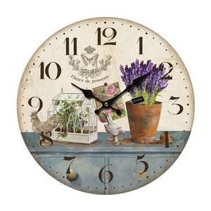 Orologio shabby fiori azzurro bianco