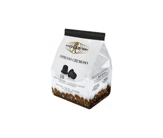 10 capsule caffè Espresso Cremoso Miscela d'Oro Compatibili Nespresso