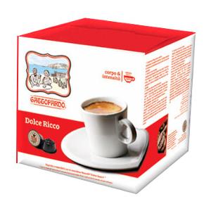 96 capsule caffè Dolce Ricco Gattopardo To.Da. Compatibili Dolce Gusto