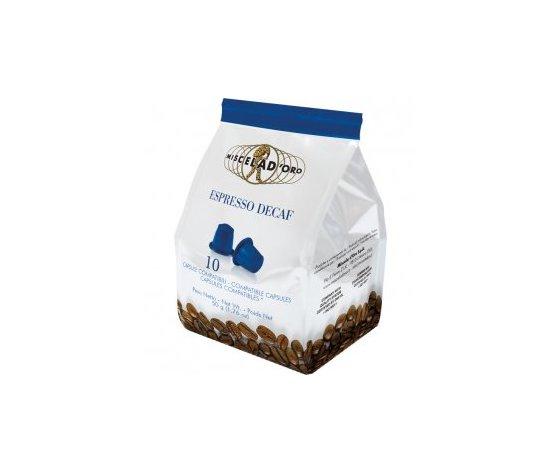 10 capsule caffè Espresso Decaf Miscela d'Oro Compatibili Nespresso