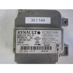 30-144 centralina airbag bosch 0 285 001 537 8200 375 763 ab8.x renault clio