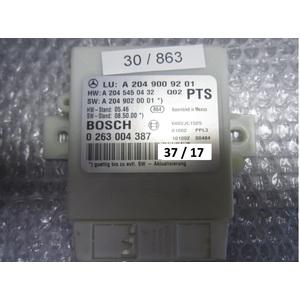 37-17 Centralina sensori parcheggio Bosch 0 263 004 387 0263004387 A 204 900 92 01 A2049009201 A 204 545 04 32 MERCEDES BENZ VARIE