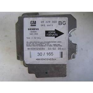 30-165 Centralina Airbag Siemens 5WK4 2926 5WK42926 1923594 09 229 303 OPEL Diesel ANTARA