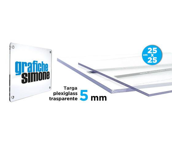 Targhe in plexglass da 5 mm 25x25