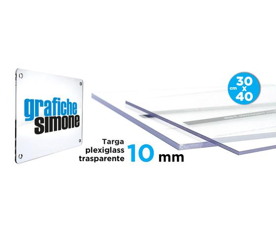 Targhe in plexglass da 10 mm 30x40