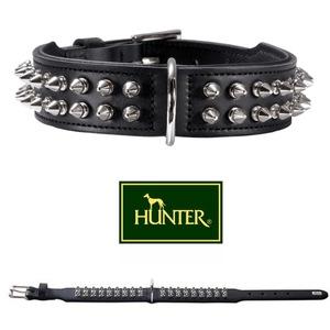 Rambo collare in pelle con borchie Hunter