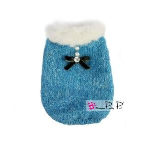 Cappotto maglione Pretty Pet azzurro