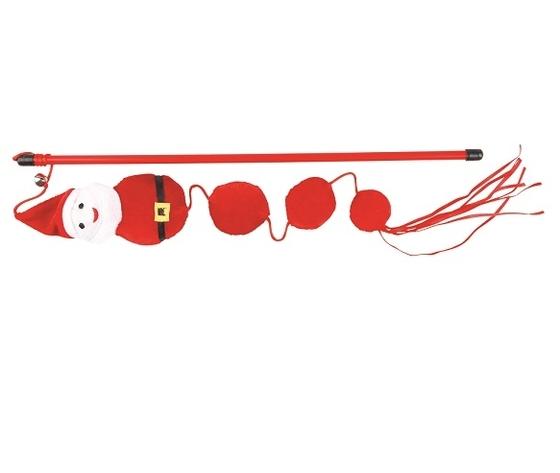 Gioco gatto canna Babbo Natale