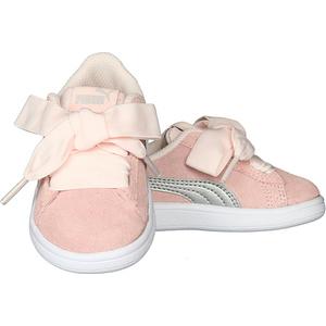 Puma Smash V2 Ribbon Rosa Pink Fiocco Bambina Art. 366004 02