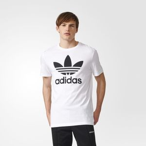 Adidas Originals Trefoil T-shirt Logo Grande Bianca Unisex Art.AJ8828