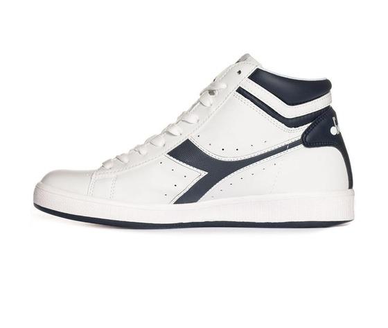 Diadora Game P High Sneakers White Blue Art. 101160277 C4656 - colbaffo 0133ed8941c
