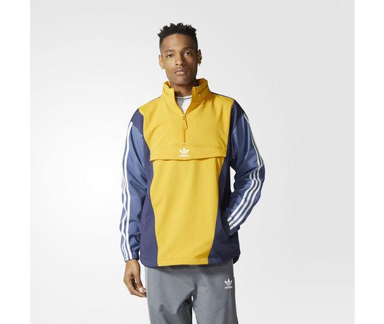 Giacca a vento Adidas Originals Blocked Anorak Giallo ocra-Blu Art. BS4504