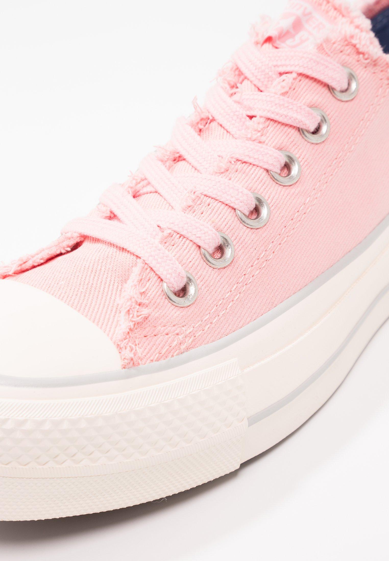converse platform basse rosa