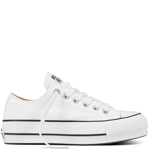 Converse All Star Bianco Platform Basse Art. 560251C