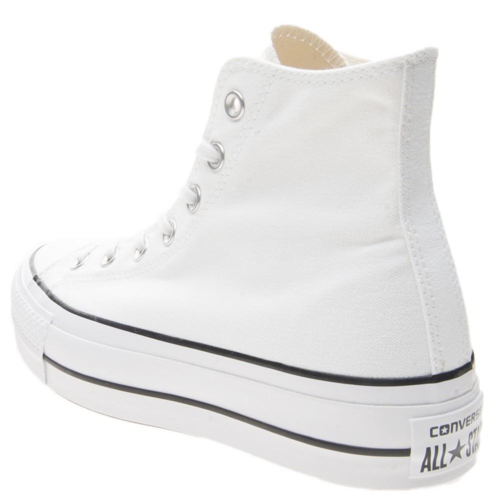 Converse All Star Bianco Sneakers Platform Alte Art. 560846C - colbaffo dcd104dff3a