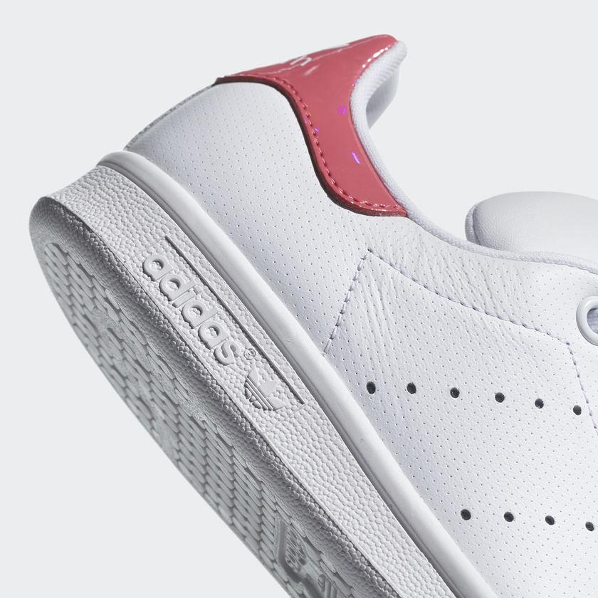 Sneakers Adidas Stan Smith Fucsia Vernice Scarpe Donna Ragazza Bianco Rosa Art.DB1207 - colbaffo