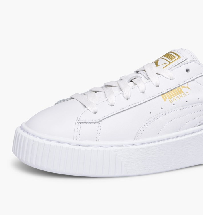 1e6457a5ad Puma Basket Platform Core Sneakers Bianco Art. 364040 04 - colbaffo