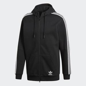 Felpa Adidas Originals Curated FZ Nero/Bianco Unisex Art. CW5068