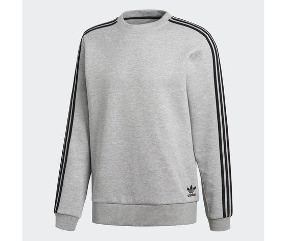 Felpa Adidas Originals Curated Crew Q2 Grigio Unisex Art. CW2529