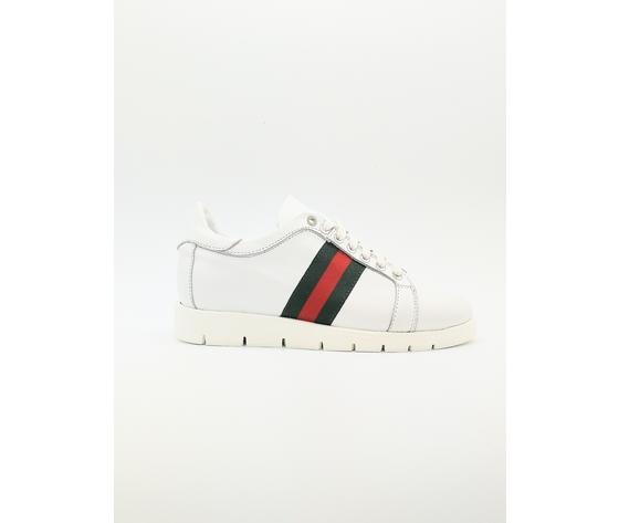 Scarpe Donna Sneakers Glamour Bianco Art. D90B