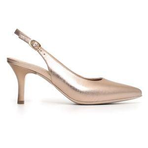 Décolléte Nero Giardini Glamour Donna Rete Laminato Bronzo Sandalo Art. P805522DE 434