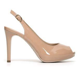 Sandalo NeroGiardini Glamour Donna Vernice Nudo Cipria Art. P805415DE 626