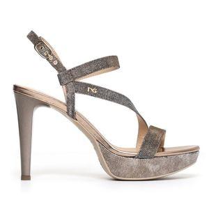 Sandalo NeroGiardini Glamour Donna Rame Art. P806070DE 327