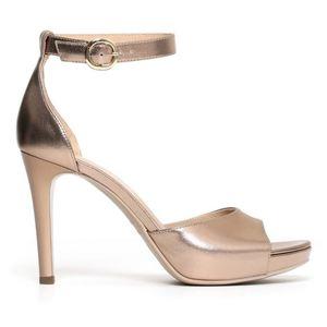 Sandalo Nero Giardini Glamour Donna Laminato Platino Art. P806081DE 434