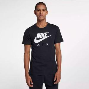 T-Shirt Nike Nero con Logo Bianco Art. AA2303 011