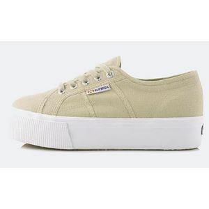 Superga 2790 Tela Platform Up And Down Taupe Sabbia Art. S0001L0 949