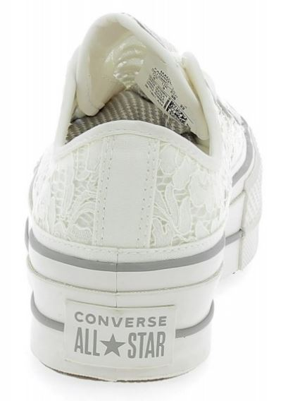 a69e619340bed Converse All Star Platform Pizzo Macramew Scarpe Sneakers Bianco Art.  561288C
