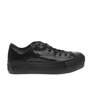 Converse All Star Platform Strass Nero Total Black Art. 556785C