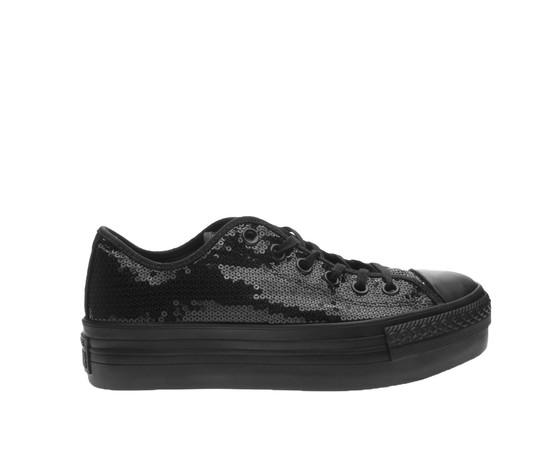Sneakers Nero Converse Strass Black Star Scarpe Total Platform All x1fa1qX
