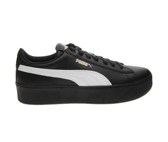 Platform Scarpe Pelle Sneakers Nero Art Puma Vikky Softfoam Donna pw0tqwO