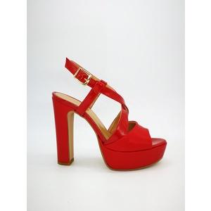 Sandalo Donna Tacco 12 Plateau 3cm Rosso Art. 240RO