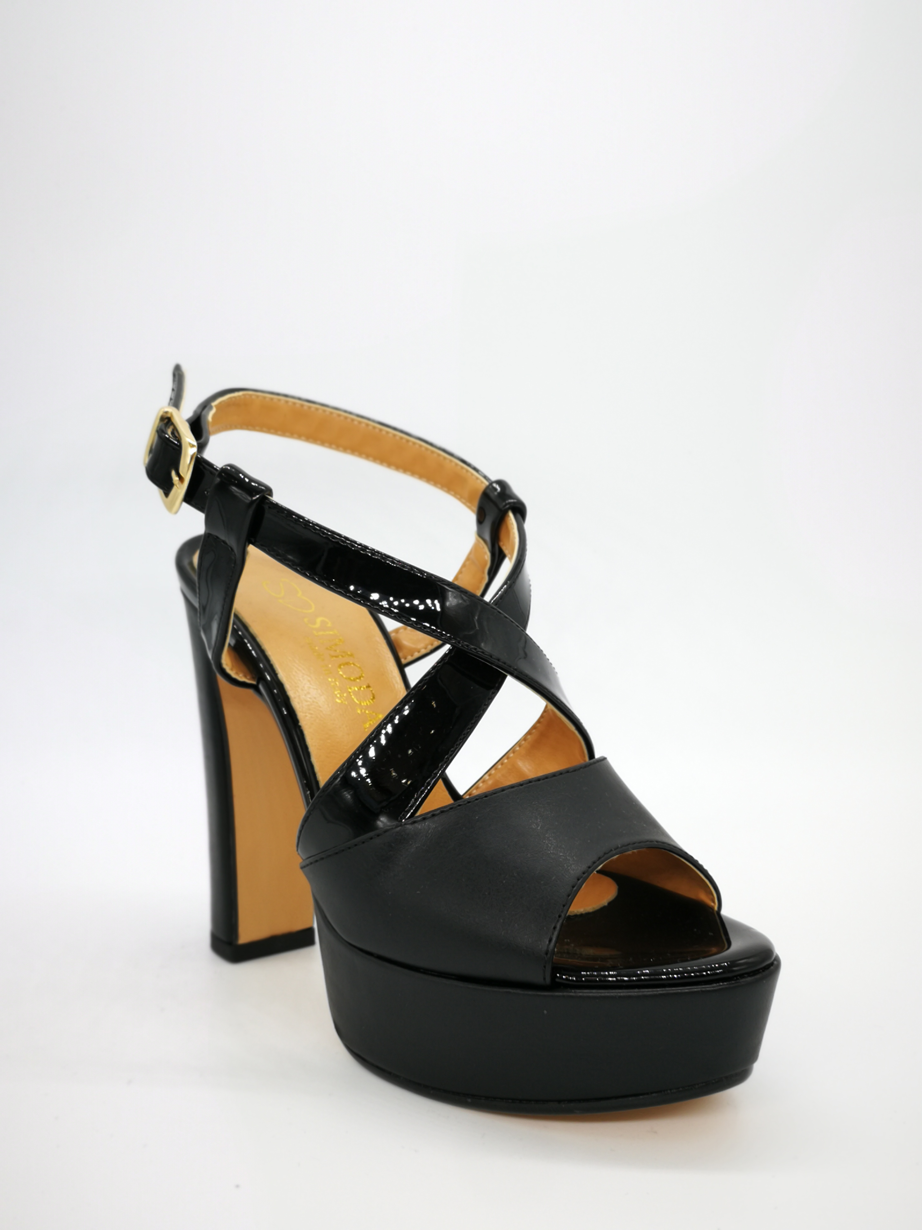 negro 12 de de tacón de altas Plateau Mujer Sandalias cm cuero Art240ne 3 Zapatos zpMVSU