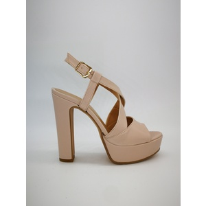 Sandalo Donna Tacco 12 Plateau 3cm Cipria Art. 240CI