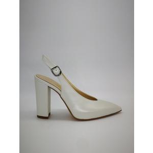 Decolletè Chanel Scollo Cuore Pelle Bianco Perla Art. 232BI