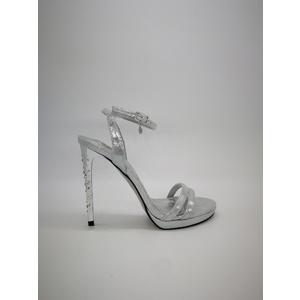 Sandali Gioiello Donna Tacco Diamond 12 Plateau 10mm Argento Cielo Art. 0529