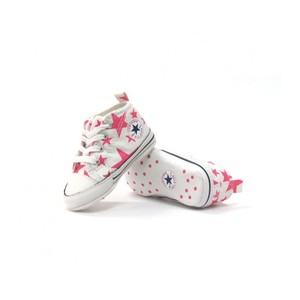 Converse First Star Bianco Stelle Rosa Art. 852767C