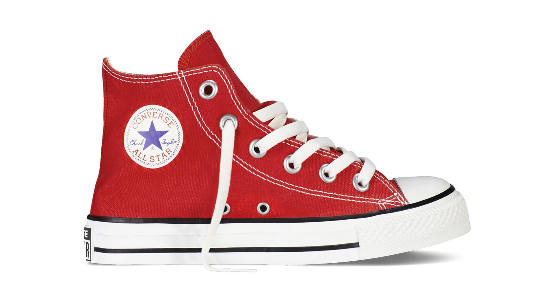 converse all star rosso