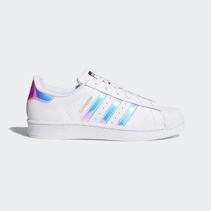 Adidas Superstar J Bianche Strisce Olografiche Art. AQ6278