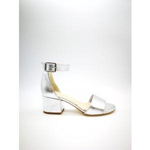 Sandalo Donna Tacco 50 Laminato Argento Art. 3260AR