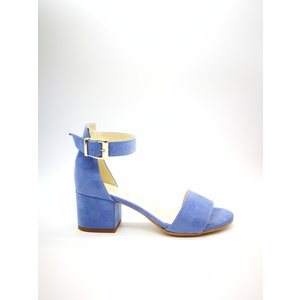 Sandalo Donna Tacco 50 Celeste Blu Polvere Art. 3260JE